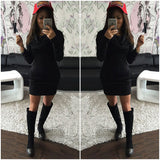 European And American Fashion Women's New Hoodie Tight Package Hip Dress