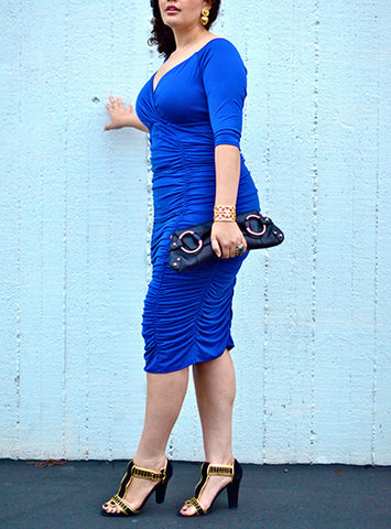 Plus Size Bodycon Party Dress, Delivery In About  16 Days