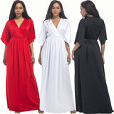 Plus  Size V Neck Maxi Dress  Delivery In About 18 Days