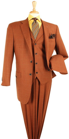 "3 PC 2 Button Suit, Windowpane pattern, 33"" Length Jacket. Delivery Takes About 8 Days. 10% Off All Of Our Products."