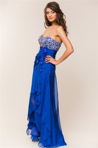 Formal Full Length A-Line Prom Gown with Sweetheart and Strapless Neckline, 5 Dyay Sale