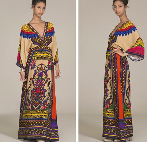 Ethnic  Casual Maxi Dress, Delivery In About 15 Days.