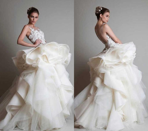 Krikor Jabotian Like 2015 Dubai Arabic Wedding Gown.