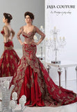 Arabic Red Formal Lace Applique Mermaid Wedding Dress, 10% Off And Free Shipping.