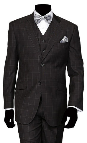 3PC SUIT, REGULAR  SUPER 150'S ITALIAN Design, 10% Off By Using This Code At Checkout, LCX2401.