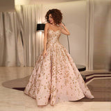 Ball Evening Gown Sweetheart Sequins Crystal Appliques Myriam Fares Like Dress