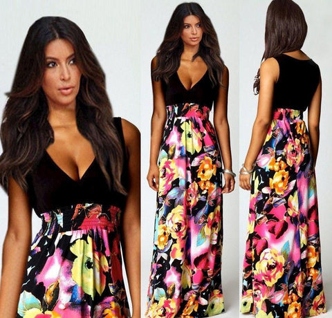 2015 Sexy Women Holiday Summer Boho Long Maxi Evening Party Dress. 10% Off Your Entire Order And Free Shipping.