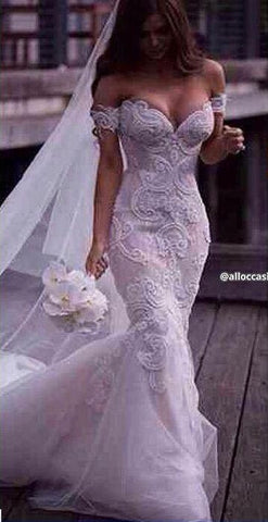 Arabic Formal Lace Mermaid Wedding Dress Delivery In About 28 Days
