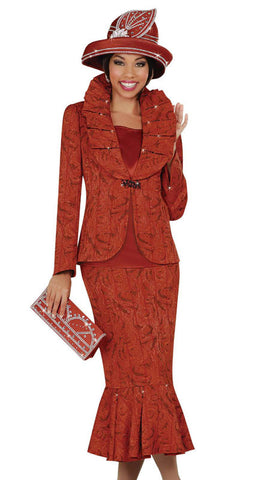 3pc Jacquard Ben Marc Women Suit.
