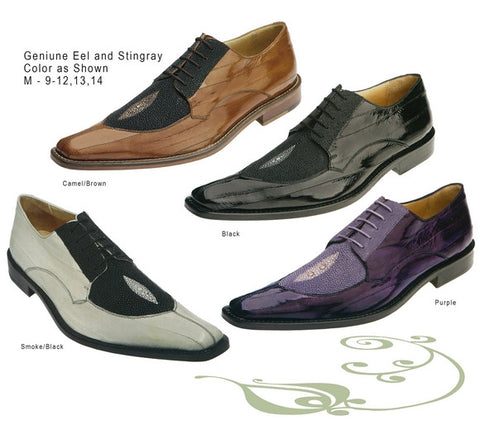 Eel and Stingray Leather Men Dress Shoe.