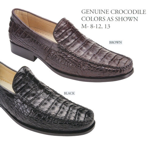Mens Genuine Crocodile Leather Shoes