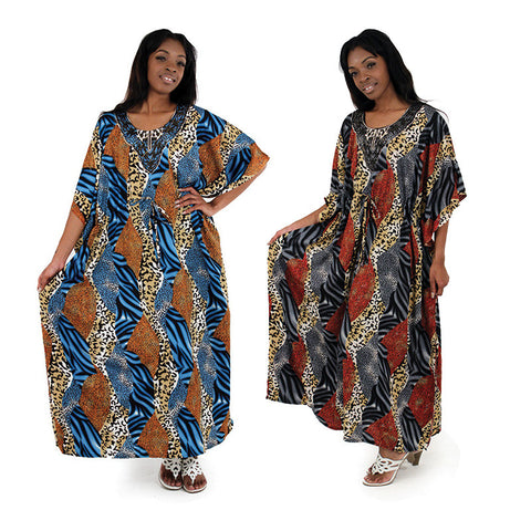 Woman Animal Print Kaftan, Delivery In About 13 Days