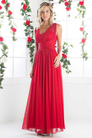 Formal  Full Length A-Line Bridesmaid Long Evening Dress, Delivery In About 8 Days