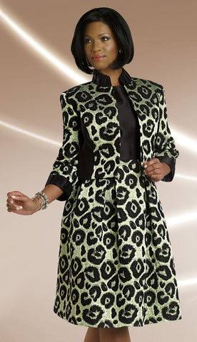 2pc Brocade Jacket Dress, Church Attire By Chancelle.