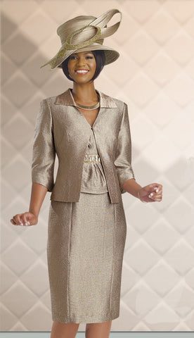2pc Jacquard Jacket Dress, Church Attire By Chancelle.