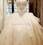 Cathedral Train Wedding Bridal Gown- Ivory