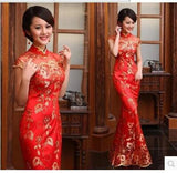 Paillette lace Fish Tail Slim Evening Dress.