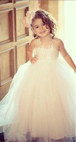 Beautiful Girls Dress For Pageant Or Wedding  Flower Girl Dress.