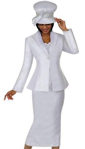 3pc Shantung With Satin GMI Church Suit