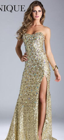 Light Gold Formal Mermaid Evening Dresses .