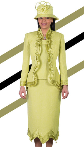 3pc Jacquard With Organza Giovanna Womens Suit