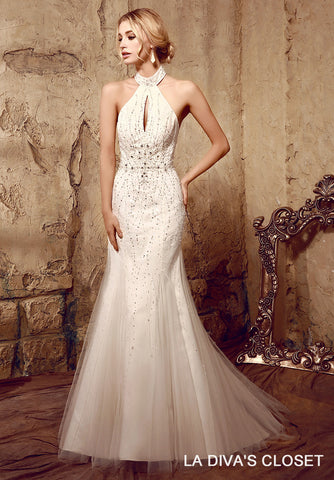 Sparkling Beaded Wedding Gown, Delivery In About 19 Days