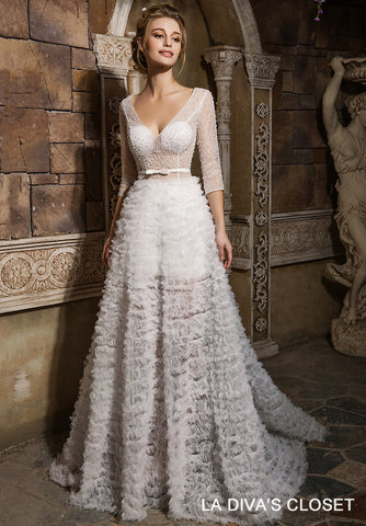 Sheer Formal Wedding Gown, Delivery In About 23 Days.