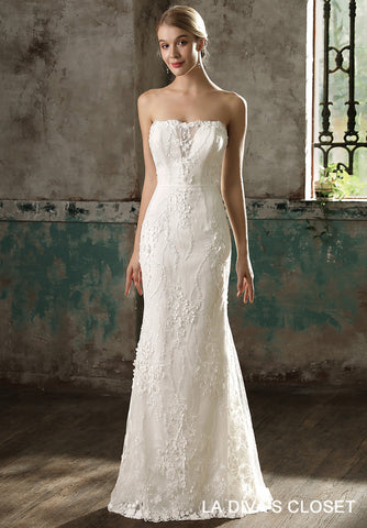Maxi Lace Wedding Dress With Detachable Train, Delivery In About 23 Days.