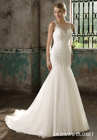 Sleeveless Mermaid Wedding Gown, Delivery In About 23 Days.