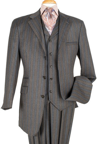 Executive Super 150 Wool Men Suit, Semi Wide Leg.
