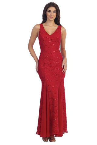 Sheath Shape Formal Evening Lace Dress with Detail Sequins Embellishment. Delivery In 8 Days