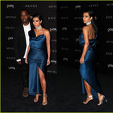 Kim Kardashian One Shoulder Mermaid Formal  Evening Gown.