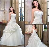 Taffeta Ivory Wedding Dress
