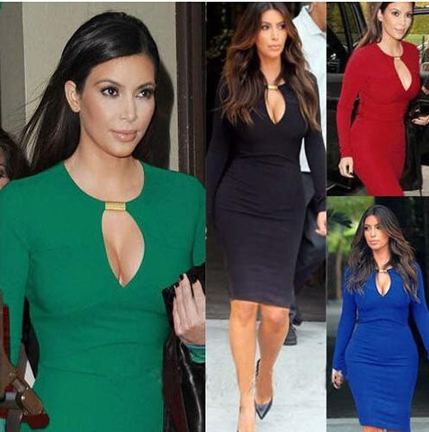 Kim Kardashian Style Casual Sexy Party Dress.