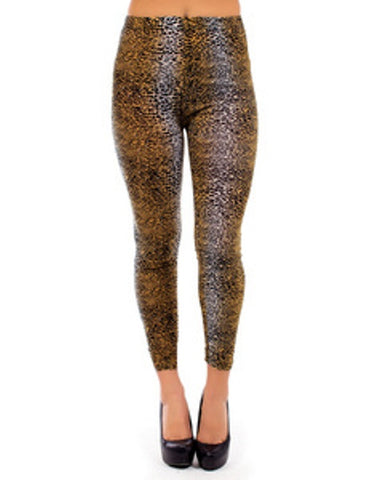Black & Gold Leggings &  Leopard Print Leggings.