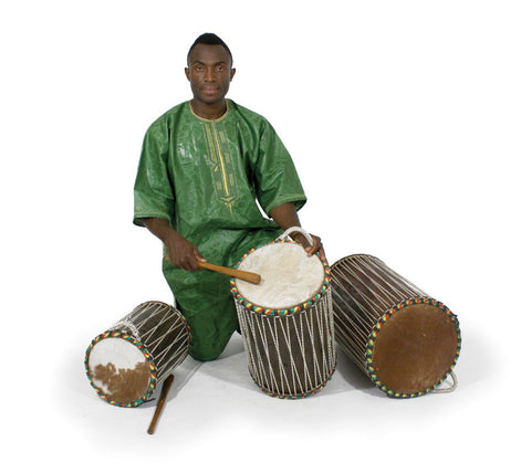 Genuine African Dundun Drums - Set Of 3, Delivery In About 8 Days.
