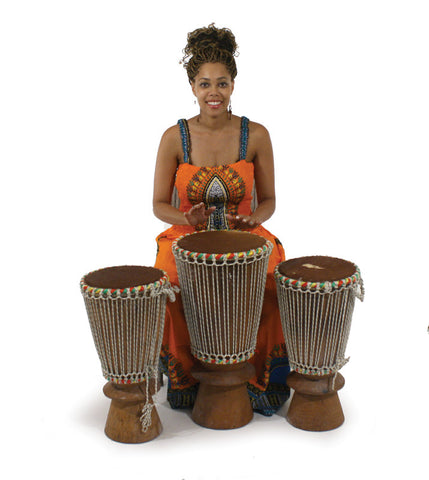 Set Of 3 Genuine African Bougarabou Drums, Delivery In About 8 Days.