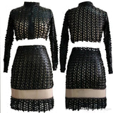 New Celebrity Metal Hole Bodycon Bandage Dresses.