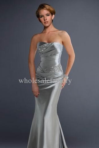 Bridesmaid Strapless Formal Dress