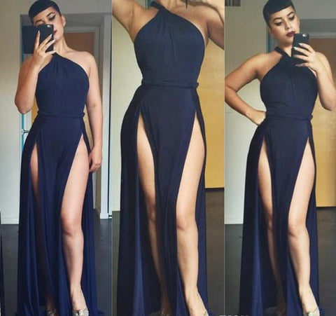 Sexy Split Woman Dresses Models Floor Length Maxi Dress. 20% Off Your Entire Order.