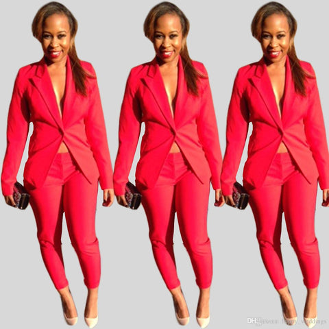 Long Sleeve Women Blazer Suits, Delivery In About 17 Days.