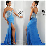 Sexy Exquisite Evening Dresses Crystal Ruffles Sheath Sweetheart Prom Dress. 30 Days For Delivery