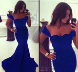 Formal Black / Royal Blue Mermaid Evening Dress.