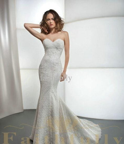 Glamorous Mermaid Wedding Dress.