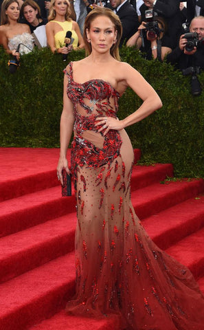 Jennifer Lopez Like  Sexy Met Gala Mermaid Evening Gown.