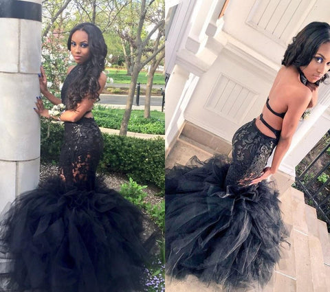 2016  Mermaid Prom Dress Sheer Lace Applique, Delivery In About 16 Days.
