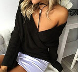 Sexy V-neck Bottoming Shirt Long Sleeve Fashion Sweater, Delivery In 17 Days