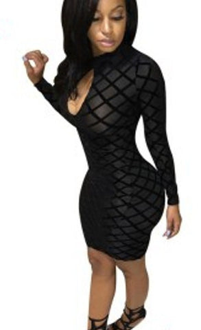 Sheath Black Bandage Dress Women Party Dress, Delivery In About 14 Days.