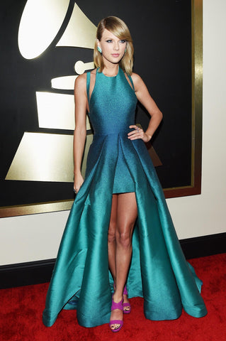 2015 57th Grammy Awards Taylor Swift Red Carpet Celebrity Formal Dress.