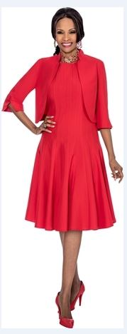 Red Church Dress With Short Jacket  Delivery In About 12 Days